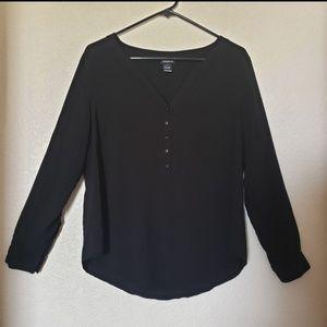 Torrid Black Long Sleeve Blouse Size 0